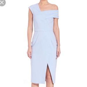 28538dcab474 NWOT Nicholas Light Blue Ponti One Shoulder Dress